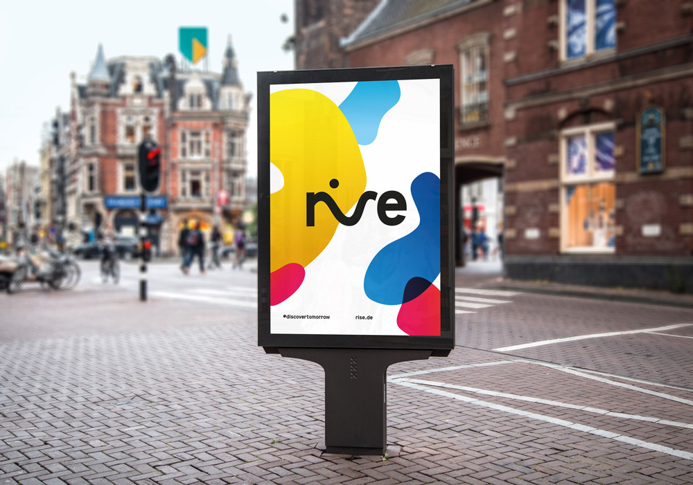 rise branding at a street